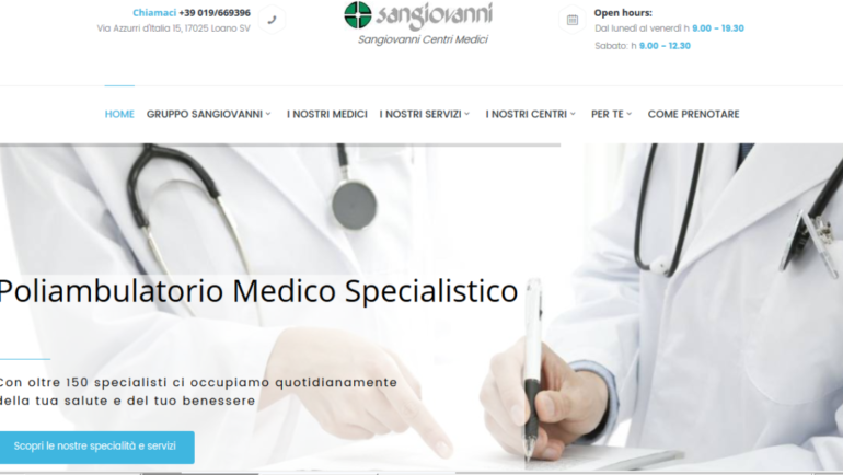 Nuovo sito web per i Centri Medici Sangiovanni!
