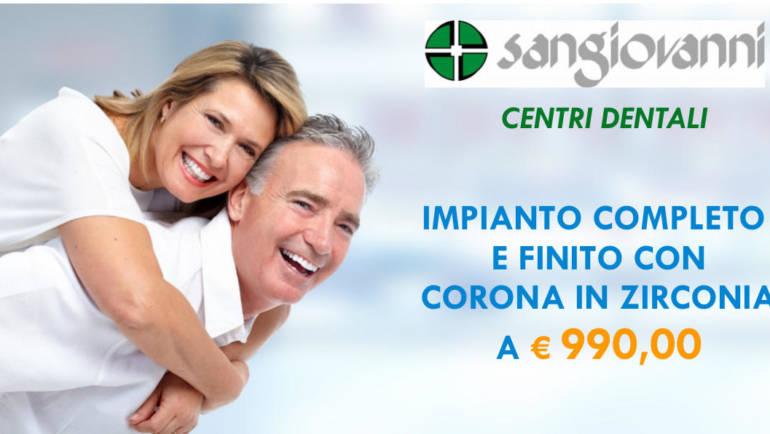 Promozione fino al 30 giugno: Impianti dentali completi