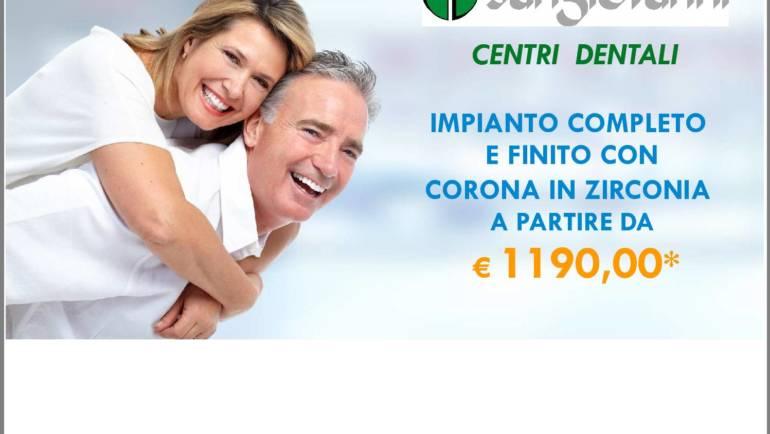 Promozione fino al 31 dicembre: Impianti dentali completi
